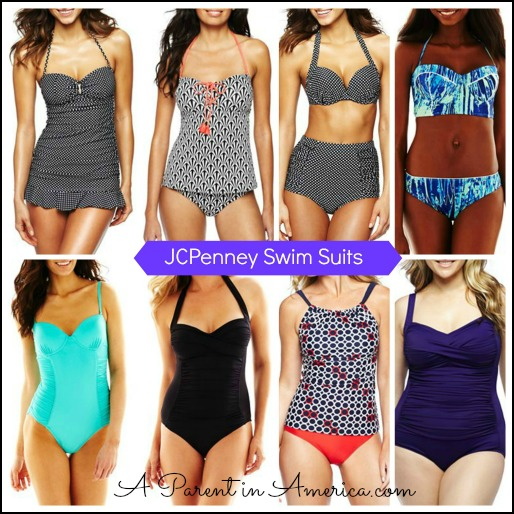 JC Penney Swim Suit Collage